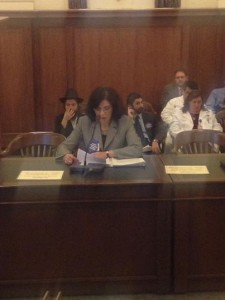 Executive Director Marie Tasy testifying in opposition to A2270/S382, the physician assisted suicide bill